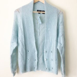 Vtg NWT Mohair Cardigan Sweater Size Small Petite